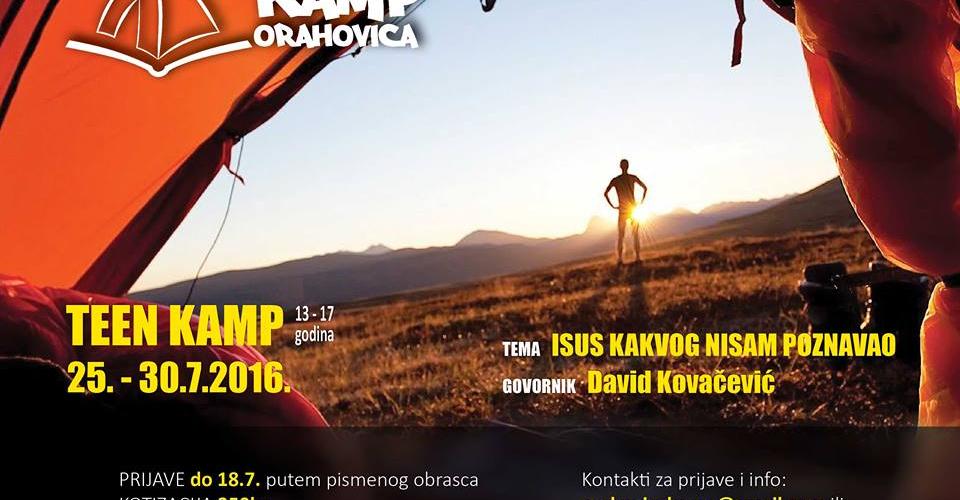 Tinedzerski kamp plakat 1